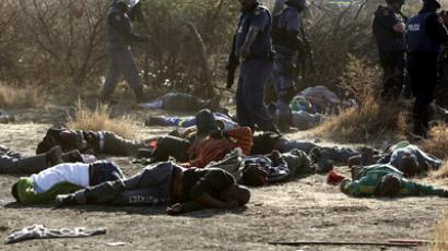 S. African police fire stun grenades, rubber bullets as unions clash