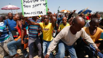 S. African police fire stun grenades, rubber bullets as unions clash (PHOTOS)