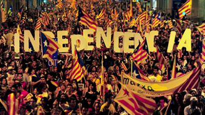 Over a million Catalans lock hands in independence chain (PHOTOS, VIDEO)