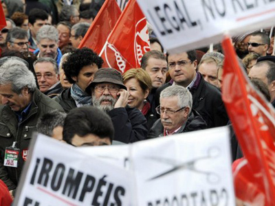 Mass anti-austerity protests sweep through Spain