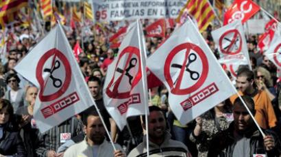 Spain tightens belt despite protests amid growing concern over its fiscal health