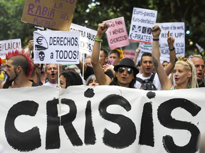 Next on the list? Spaniards protest labor reforms