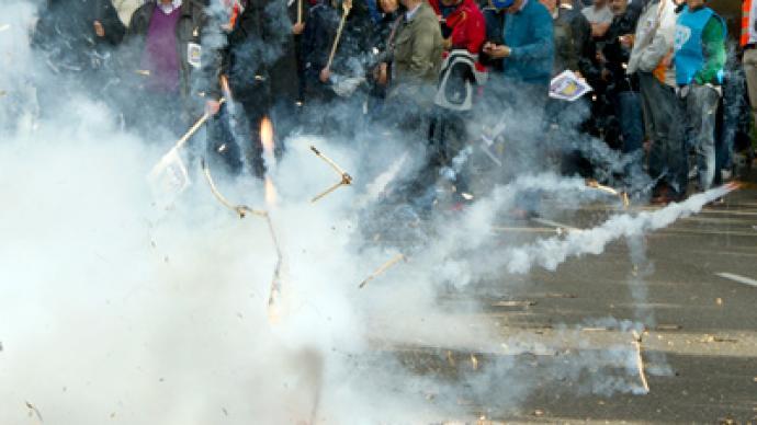 Spanish police rally against loss of Christmas bonus