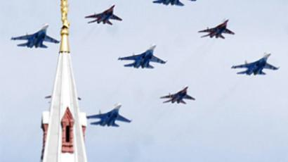 Strategic bombers above Red Square