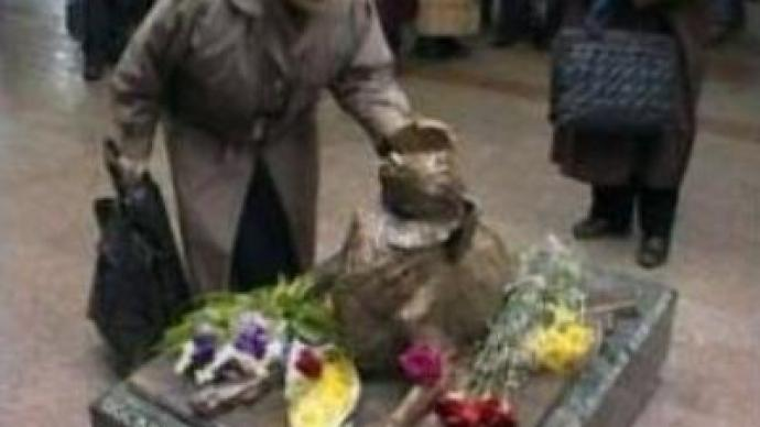 Stray mongrel monument unveiled in Moscow