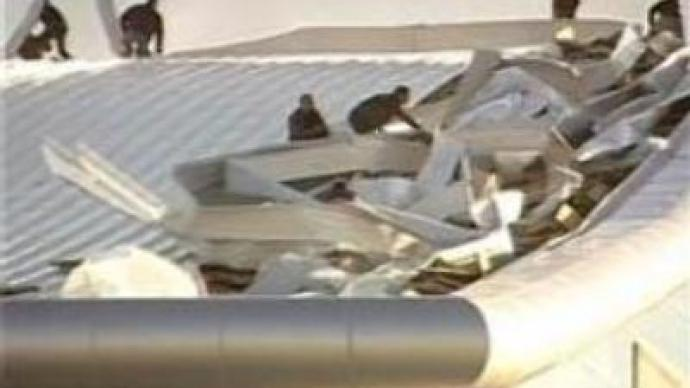 Strong wind hits Tbilisi airport