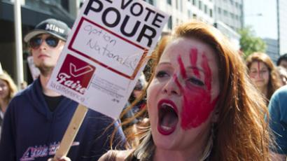 Quebec students protest despite tuition hike backtrack