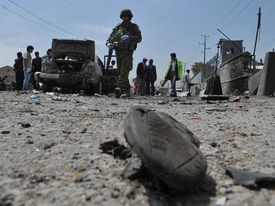 Suicide bomb attack on Afghan NATO base: 7 killed, 13 injured