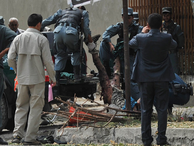 Teenage suicide bomber kills six near NATO's Kabul headquarters