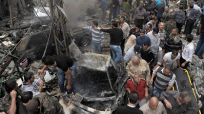 3 killed as blasts rock pro-Assad district in Damascus near presidential palace