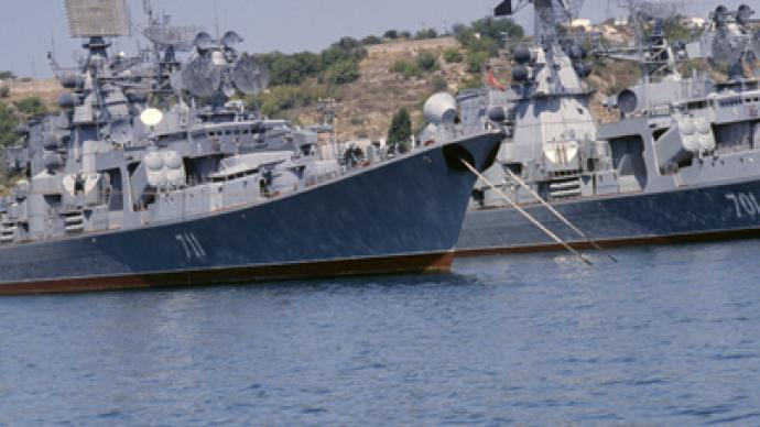 'Bound for Syria' Russian warship remains unloaded in port
