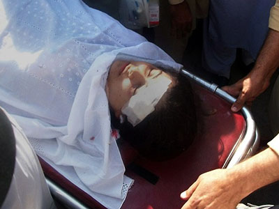 14yo schoolgirl activist shot in head by Pakistani Taliban
