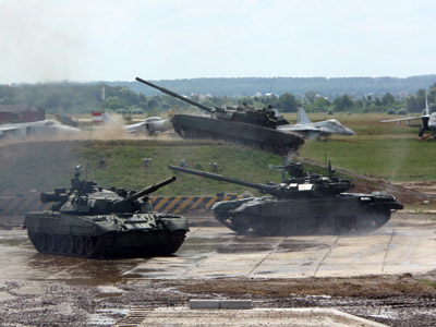 Tank biathlon: First comp in new paramilitary sport starts near Moscow