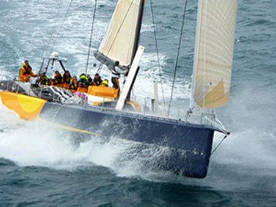 St. Pete waves checkered flag at Volvo Ocean Race