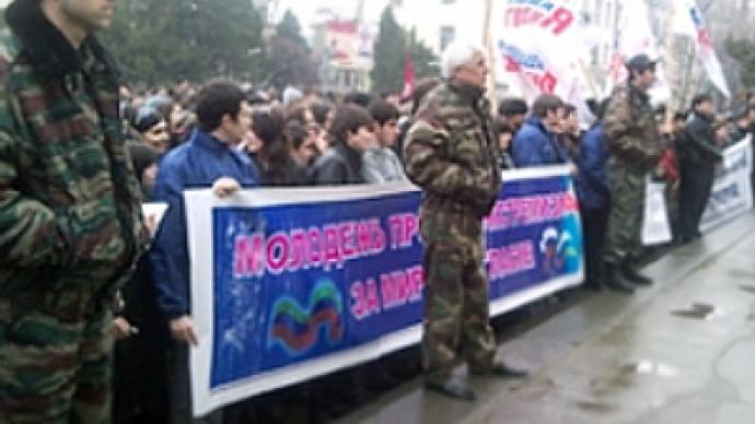 Thousands gather for spontaneous anti-terrorism rallies in Dagestan