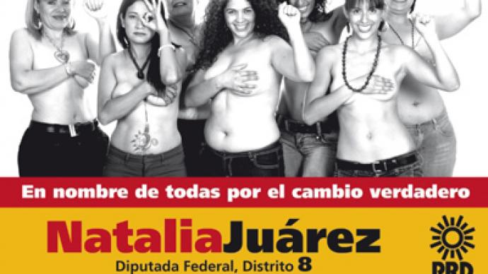 Rise to the top(less): Mexican politician stakes campaign on naked billboards