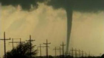 Rare tornado hits Georgia