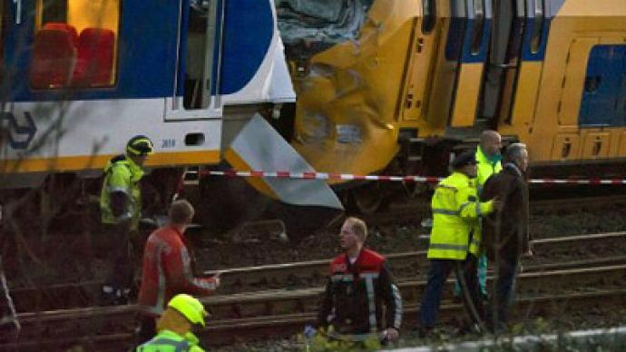 One dead and 125 injured in Amsterdam train crash