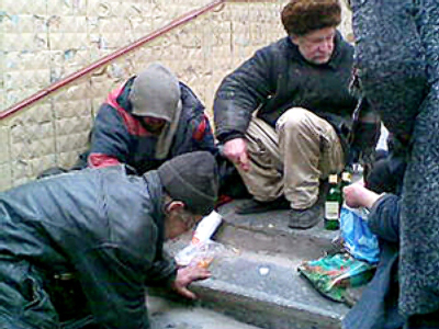 Russian tramps sell body parts to kebab stand
