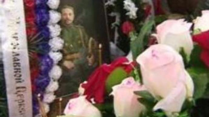 Tsarist General reburied in Moscow after 80 years