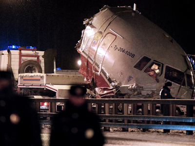 Moscow plane crash: Deathtoll rises to five (VIDEO OF CARNAGE, PHOTOS)