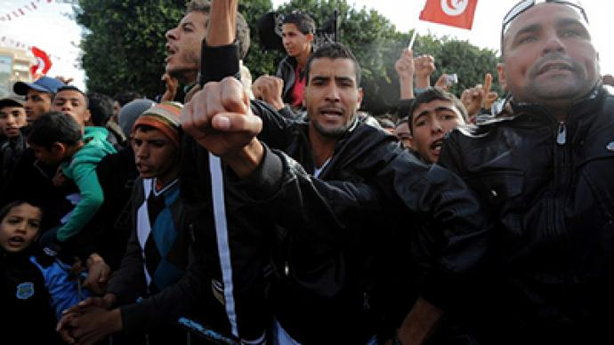 Tunisia in turmoil: Stones thrown at president, unrest 2 years after Arab Spring