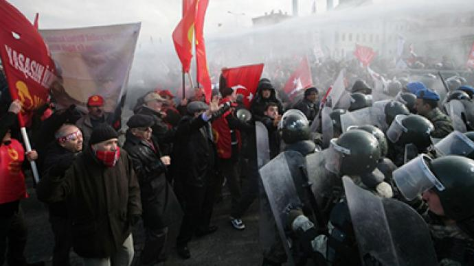Hundreds of protesters clash with police in Turkey amid mass trial