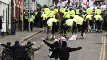 Police clash with ultraconservative anti-Islamist demo in UK, arrest 28 (PHOTOS)