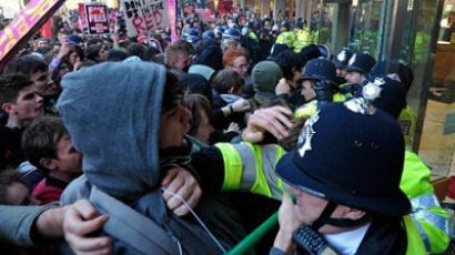 'Snatch squads' caught on camera at London student rally
