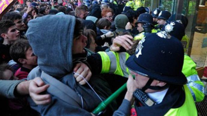 UK loads up rubber bullets for student march