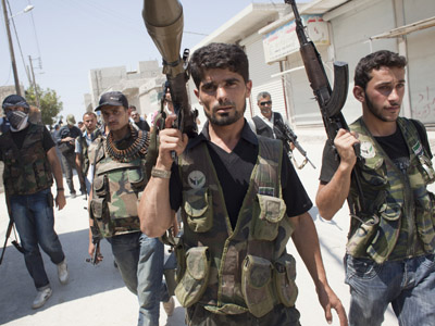 'Increasing evidence West provides Syrian opposition with weapons'