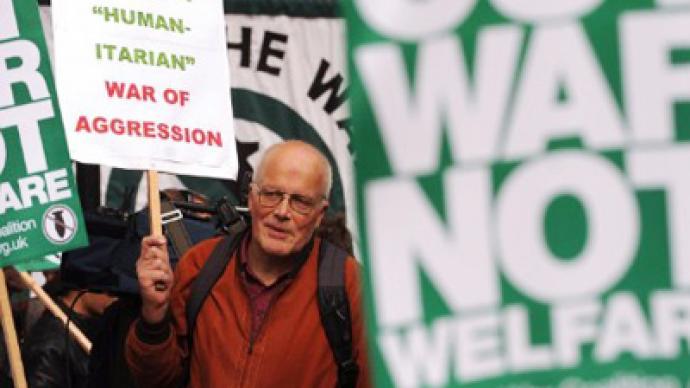 UK protesters slam campaign in Libya
