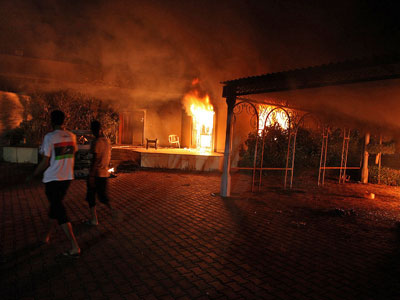 Protesters torch KFC in Tripoli, Lebanon (PHOTOS)