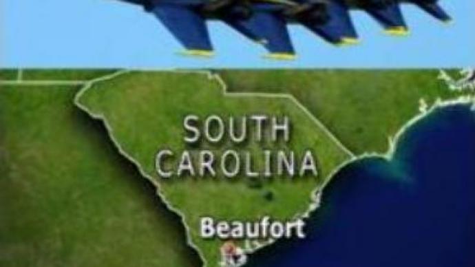 U.S. fighter jet crashes performing manoeuvre