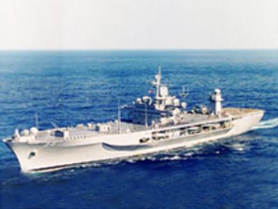 U.S. flagship docks in Poti