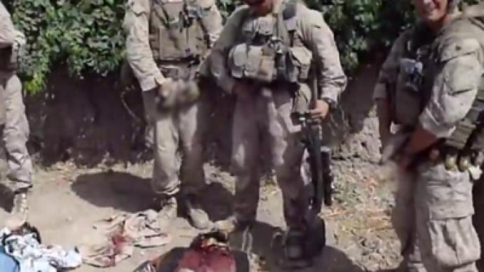 US Marine reduced to lower rank and fined for urinating on dead Afghans