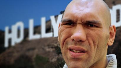 Budge up, guys: Supersize seat for Russian XL MP Valuev