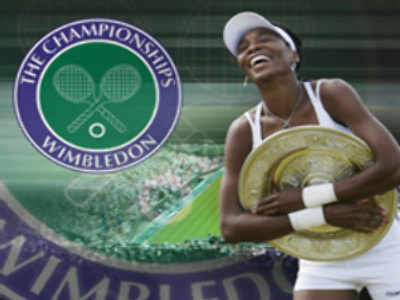 Venus Williams embraces Wimbledon victory