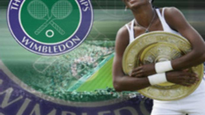 Venus Williams embraces Wimbledon victory