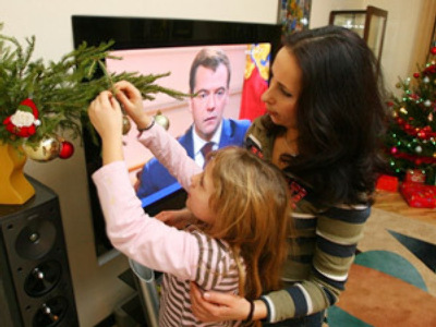 """What's on the other side?"" Muscovites ask as Medvedev speaks"