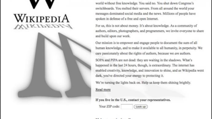 Web blackout ends: SOPA bleeding, but not dead