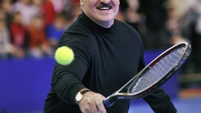 Two women beat Belarusian president... on tennis court