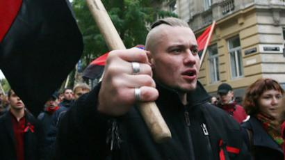 Two Ukrainian nationalists arrested over Victory Day clashes