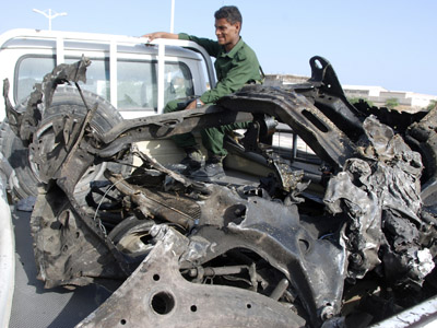 Al-Qaeda terrorist attack outside Yemeni presidential palace kills at least 26