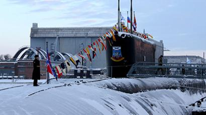 3rd Russian Borei-class nuclear sub raises its colors (VIDEO)