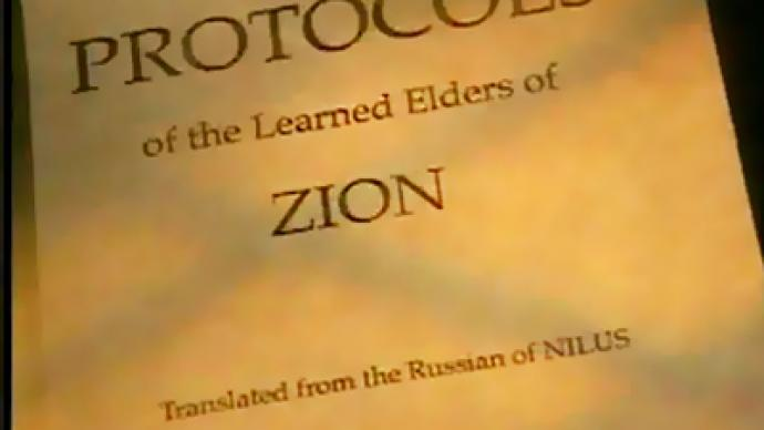 Russian academicians demand ban of Protocols of the Elders of Zion