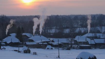 Houses in the village of Ivanovka, Omsk Region (RIA Novosti / Alexey Malgavko)