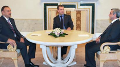 Medvedev meets Caucasus leaders to talk Nagorny-Karabakh