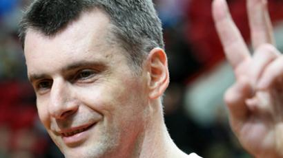 Prokhorov seeks throne, not chair