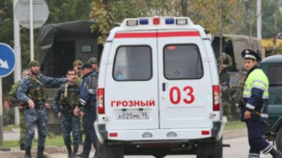 Blast kills policeman in Chechen capital